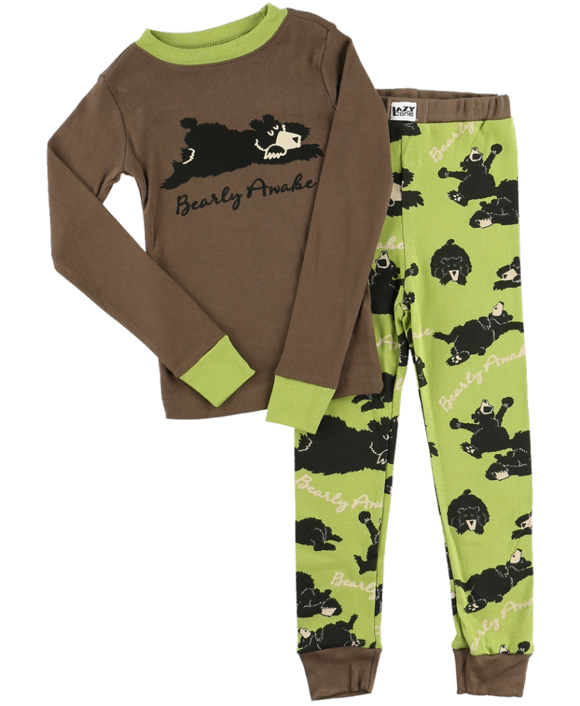 Bearly Awake Boys - Kids Long Sleeve PJ Set - Lazy One®